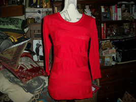 Vince Camuto Lovely Shanghai Red Blouse Size Xs - $14.85