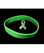 Kidney Cancer Green Ribbon Pin Silicone Bracele... - $8.97