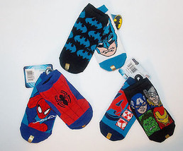 The Avengers, Spider-Man or Batman Toddler Boys 2 Pairs Socks Size 6-8.5... - $5.84