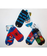 The Avengers, Spider-Man or Batman Toddler Boys 2 Pairs Socks Size 6-8.5... - $5.84