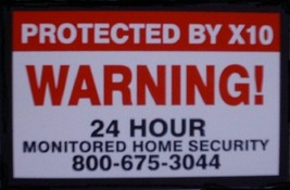 Alarm Warning Sticker (Large) - $5.00