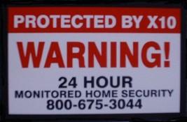 Alarm Warning Sticker (Large) - $5.00