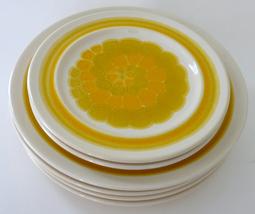 vintage Franciscan Sundance 4 dinner 2 salad plates lot gold retro stone... - $65.00