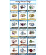 .925 Sterling Silver Multi-Color CZ Disney Princess Engagement & Wedding... - $159.99