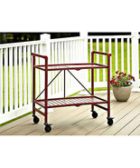 Serving Cart Indoor Outdoor Rolling Folding Bev... - $82.75