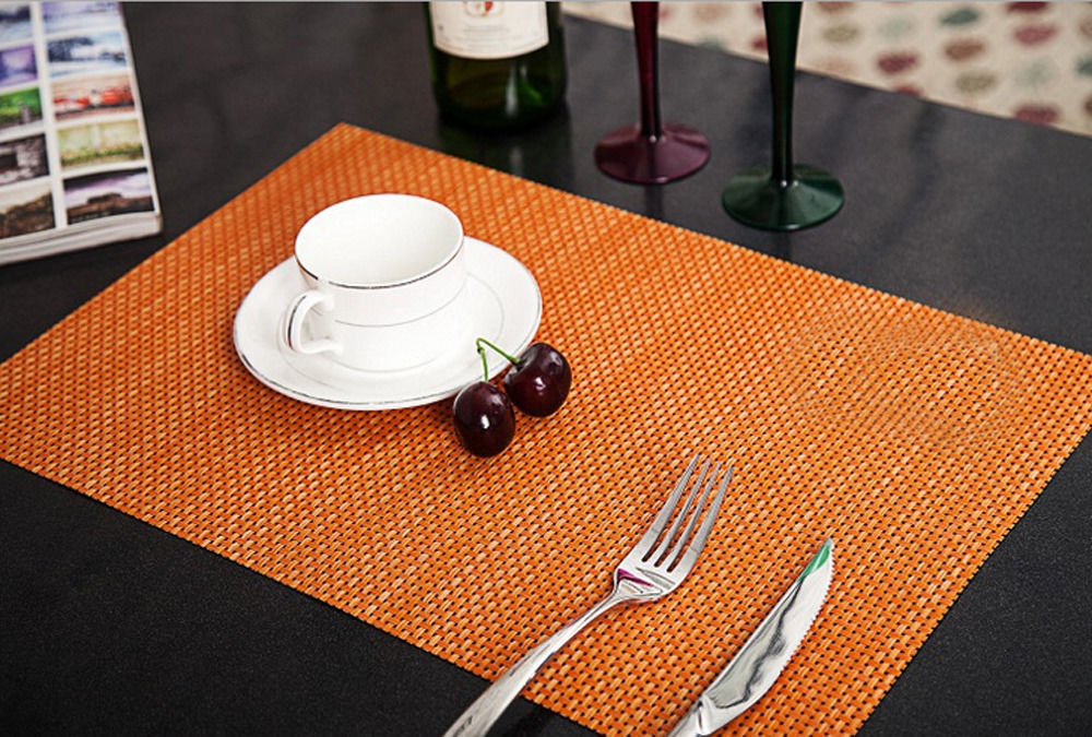 Format 30 x 45 cm Tischset Platzset Platzdeckchen aus Bambus 6 Stück