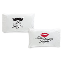 Couples Mrs. & Mr. Pillow Cases - IN4261 - $16.99