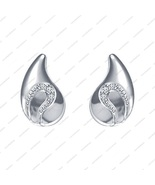 925 Silver White Platinum Plated Round cut CZ Beautiful Pear Drop Earrings - £12.20 GBP