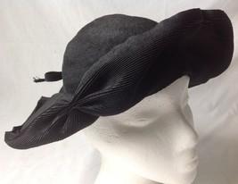 Vintage Christine Black Floppy Wide Brim Hat wi... - $31.42 CAD