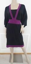 Nwt Style & Co Empire Waist Colorblock Jersey KNIT  Dress Sz 1X Plus Bla... - $42.52
