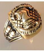 Paladin Pistolero Mens signet ring   14k Gold S... - $791.01