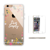 360° Protection Live Simply Floral Clear Phone Case Transparent iPhone C... - $17.99