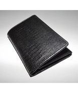 NEW MURANO MEN'S ITALIAN CROC LEATHER TRIFOLD CREDIT CARD WALLET WITH ID... - $39.55