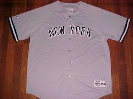 Majestic MLB AL East 1973 New York Yankees Gray Blue Men Baseball Jersey... - $69.29