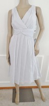 Nwt Donna Morgan Jessie Twist Silk Chiffon Cocktail Party Dress Sz 14 Gray $189 - $79.15