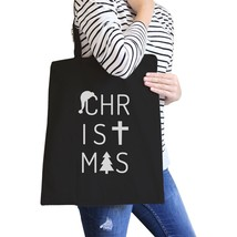 Christmas Letters Black Canvas Bags - $14.99