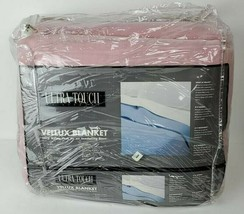 Vintage NOS Ultra Touch Stevens Vellux Blanket Full Rose Pink 80x90 - $49.50