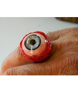 Realistic Human/zombie Eyeball Ring for Halloween, Cos Play (blue 26mm) - $15.99