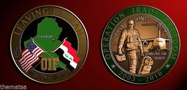 OIF OPERATION IRAQI FREEDOM  IRAQ SOLDIER LEAVING BASRAH   CHALLENGE COIN - $17.09
