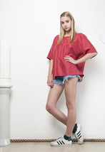 90s vintage pure silk oversized top - $31.18