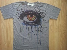 nm1 Men T Shirt Mystery Eye Providence Shiva Zen HIPPIE Peace Hobo Boho L MIRROR - $12.86