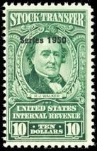 RD328, Mint NH $10 Stock Transfer Revenue Stamp Cat $190.00 - Stuart Katz - $75.00