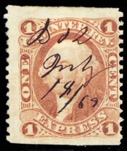 R1b, Part Perforated Express Revenue Stamp Cat $55.00 - Stuart Katz - $25.00