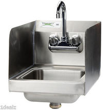 """Regency Select Wall Mounted Hand Sink with Faucet and Sidesplash - 12"""" x 16"""" + - $125.83"""