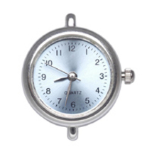 1 Watch Face Silver with Blue dial Battery included - $3.00