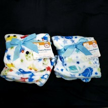"Baby Ultra Soft & Cuddly Plush Blanket 30 "" x  36"" (2 Pack) Sports & Cars NWT - $18.00"