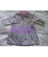 NEW Lilac and white cotton print dolls dress. To fit 41 - 46cm dolls - $4.00