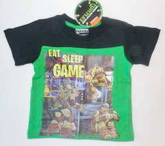 Teenage Mutant Ninja Turtles Toddler Boys T-Shirt Eat Sleep Game Size 2T... - $13.29