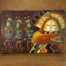 Native American Navajo 24 x 36 Yei Bi Chei Dancers Giclée by JC Black On... - $449.00