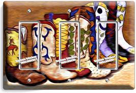 Cowboy Boots Southern Americana Triple Gfci Light Switch Wall Plate Womens Decor - $16.19