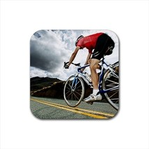 Cycling Bottle Opener Keychain and Beer Drink Coaster Set - $7.71+