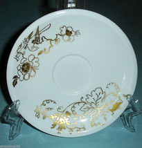 """Wedgwood Plato Gold Elysian Saucer Floral Made in England 6"""" New - $14.90"""