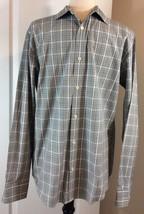 Joseph Abboud Joe Men's Gray Multi Colored Plaid Casual Shirt Size Medium M - $40.71 CAD