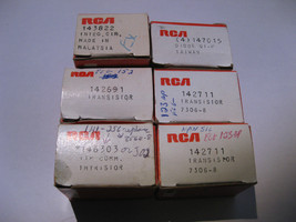 RCA Replacement Parts 6 Boxes Solid State Semiconductor Television TV Vi... - $17.10