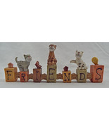 "Decorative Resin Kitty Friends Sign Cats, Flowers, Butterfly 6"" x 2 1/2""... - $14.88"