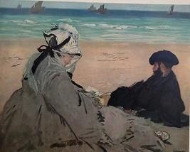 On the Beach (MINI PRINT) By Edouard Manet - $50.00