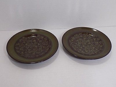 VTG 10 Pc / 2 Place Setting Franciscan Madeira Dinner Salad Plates Cups Saucers
