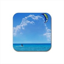 Kitesurfing Bottle Opener Keychain and Beer Drink Coaster Set - $7.71+