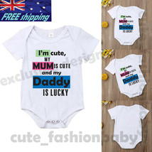 07dbde2d93aa Father's Day_Baby_Newborn#Bodysuit#Daddy_Mum Cotton#Romper_One#fashion#