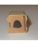 Bee Hive Rubber Stamp Mini Stampin' Up! Retired RARE Wood Mounted Bees - $3.77