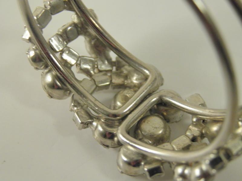 unsigned high end designer crystal clear rhinestone clamper bracelet 3071