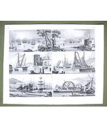 SHIPYARDS Docks Machinery Cranes Arsenal - 1844... - $21.78