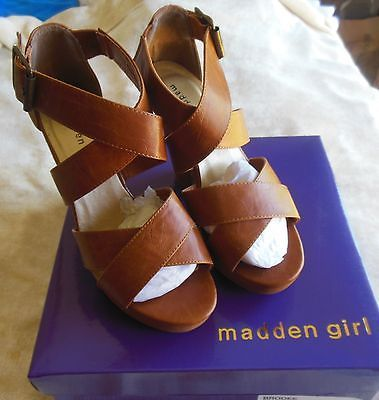 Primary image for Madden Girl Women's Tan Platform Shoes/Sandals Size 8M