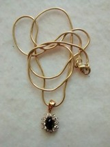 beautiful black star diopside pendant and chain - $59.95