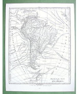 1844 MAP - SOUTH AMERICA + Sea Currents - $17.82