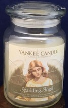 Yankee Candle Sparkling Angel 22 oz Jar Candle Used 3/4 Jar Intoxicating Smell - $14.99